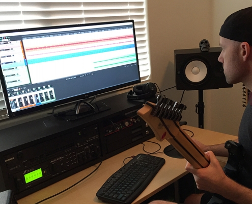 Doing a little recording in the home studio