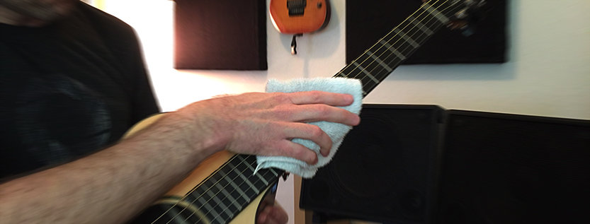 Wipe your guitar strings after every practice