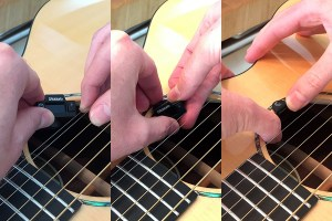 Putting the NS Micro in place felt unstable--like I might drop it into the soundhole. However, I never actually did.