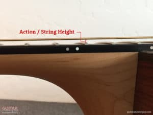 "String Height or ""Action"""