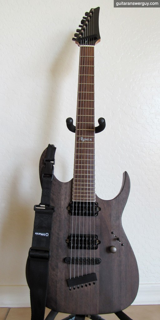 Apex is my heavily modified 2007 Ibanez Apex II
