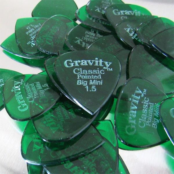 Gravity Guitar Picks 1.5mm Classic Big Mini Sharp