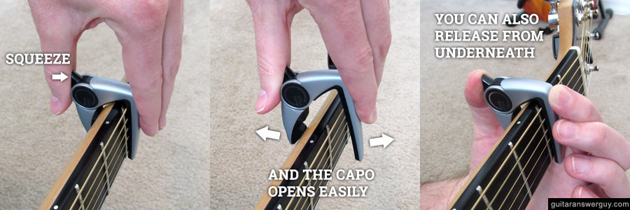 Releasing the G7th capo