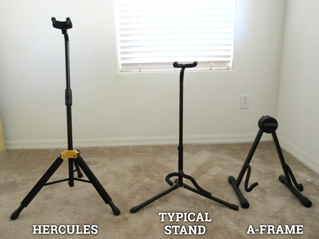 The Hercules compared to other guitar stands