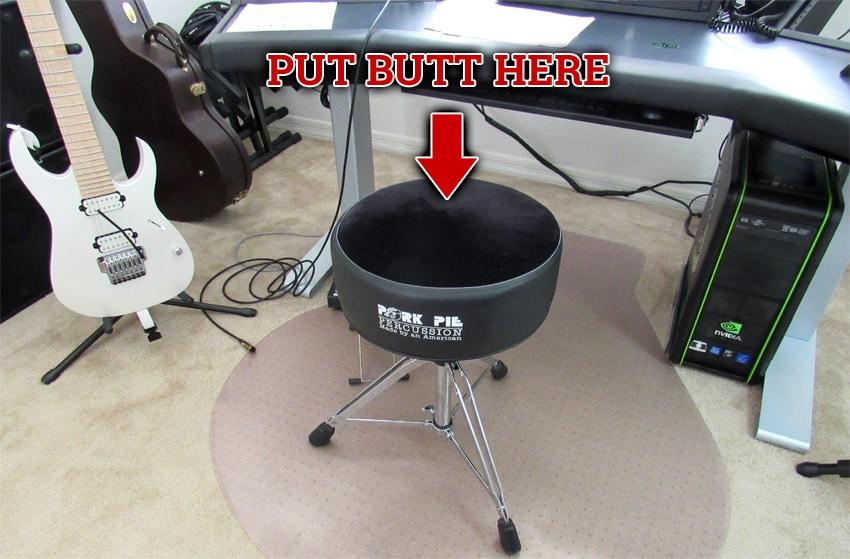 My Pork Pie drum throne