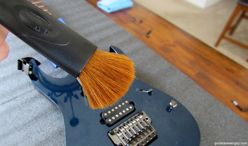 A soft sable-hair brush is great for dusting off a dirty guitar