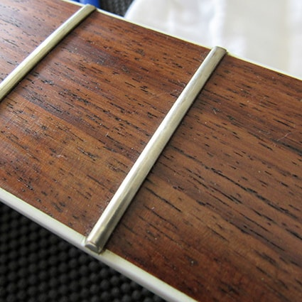 Fret before being polished