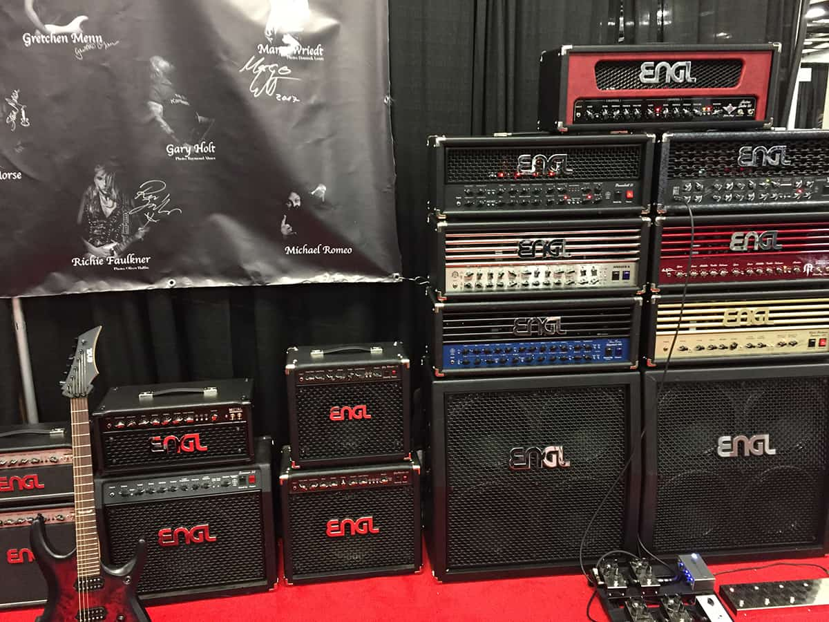 Display of ENGL Amps and cabinets at NAMM 2018