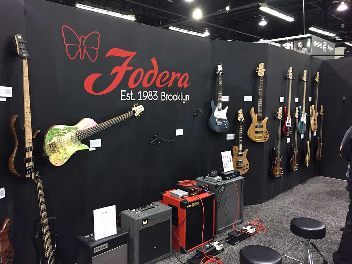 The Fodera Booth at NAMM 2018