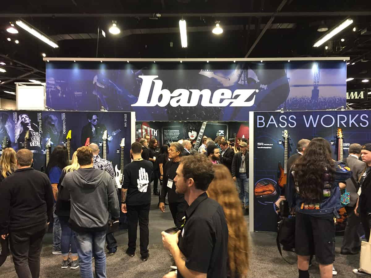 Ibanez Booth at NAMM 2018