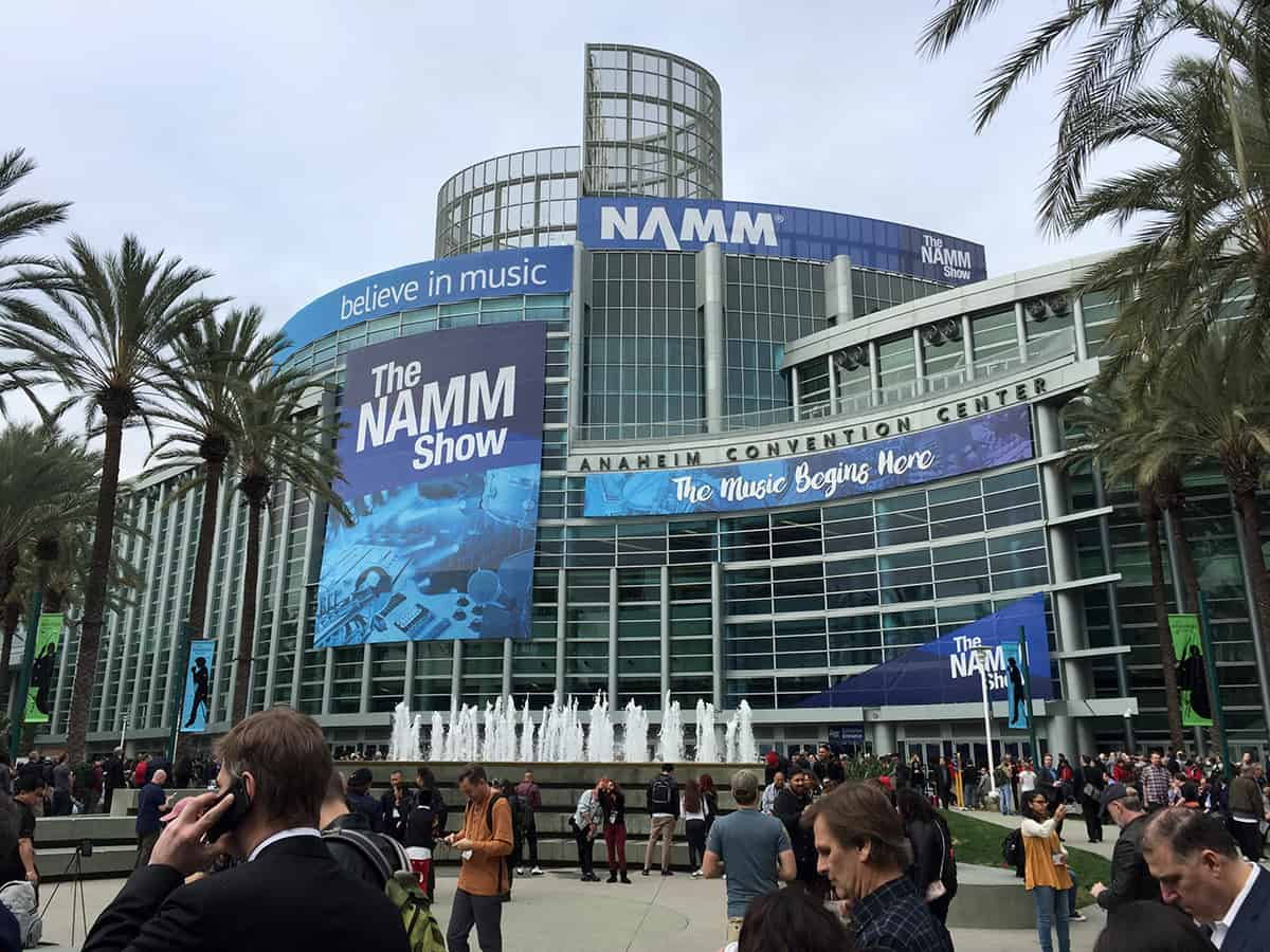 At the Anaheim Convention Center for NAMM 2018
