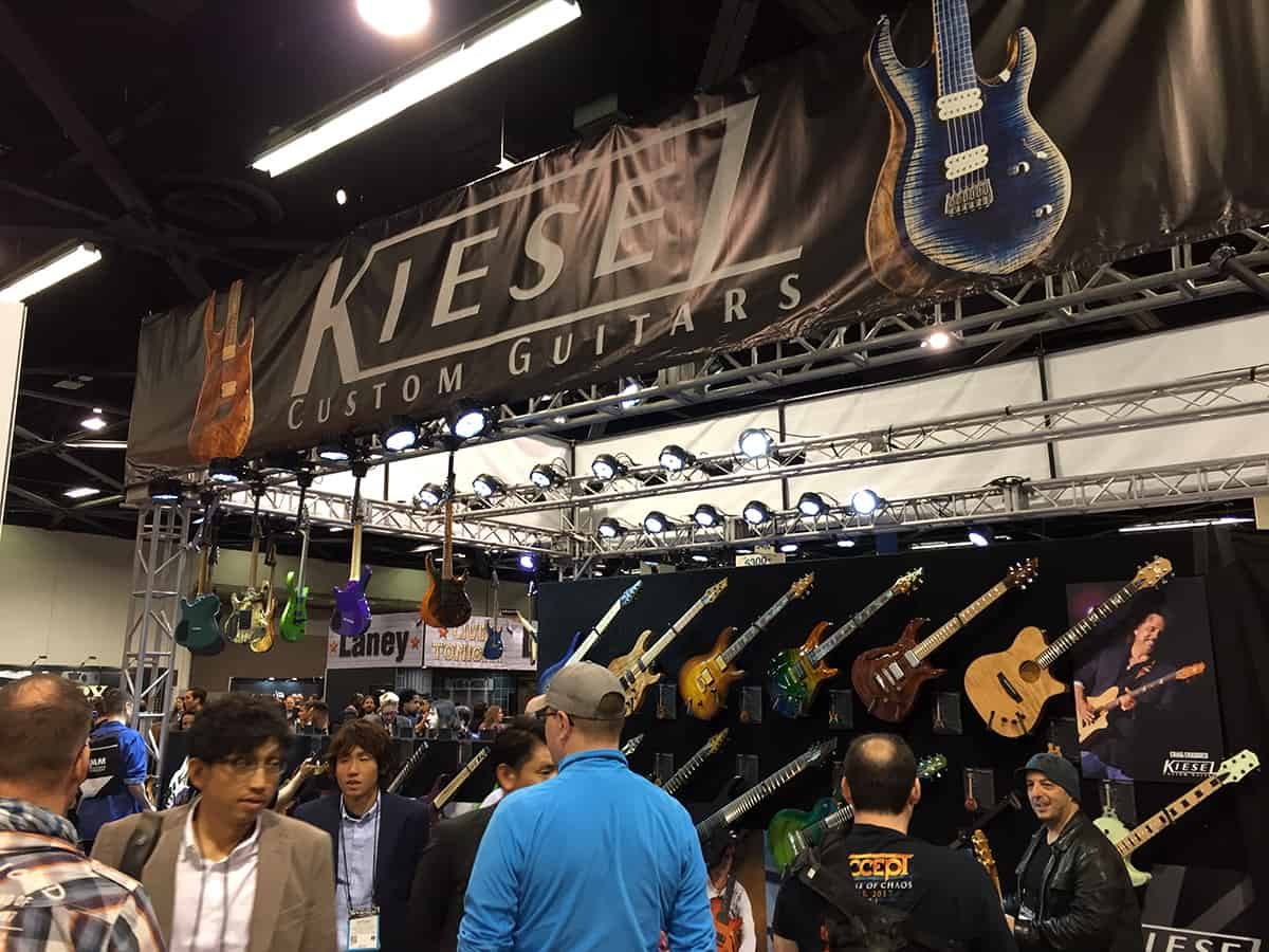 Kiesel Guitars Booth at NAMM 2018