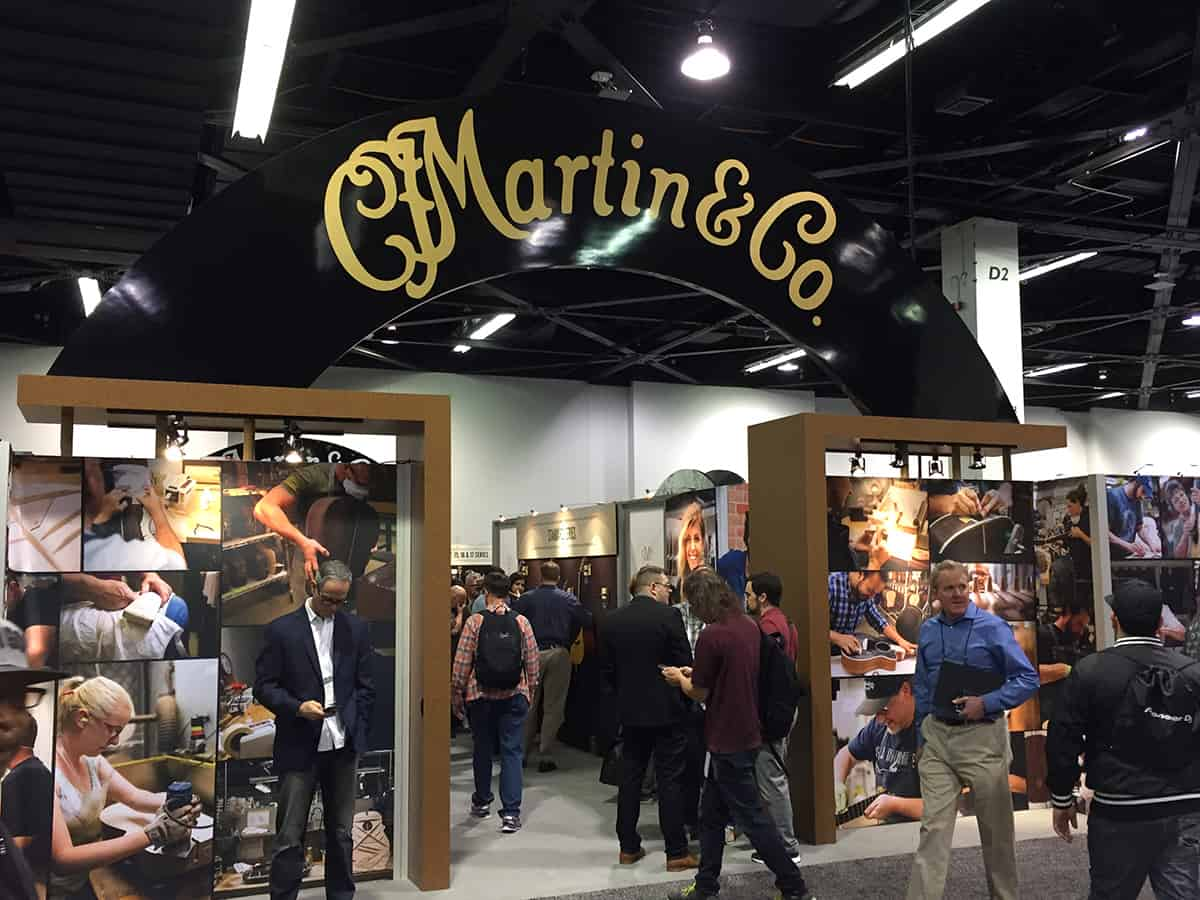 Martin Guitars Booth - NAMM 2018