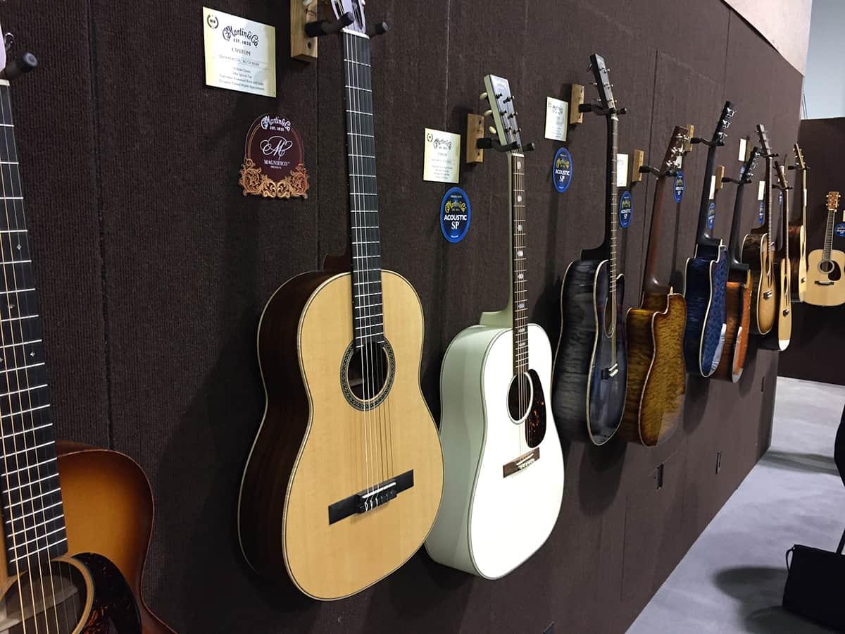 Martin Guitars Display Wall at NAMM 2018