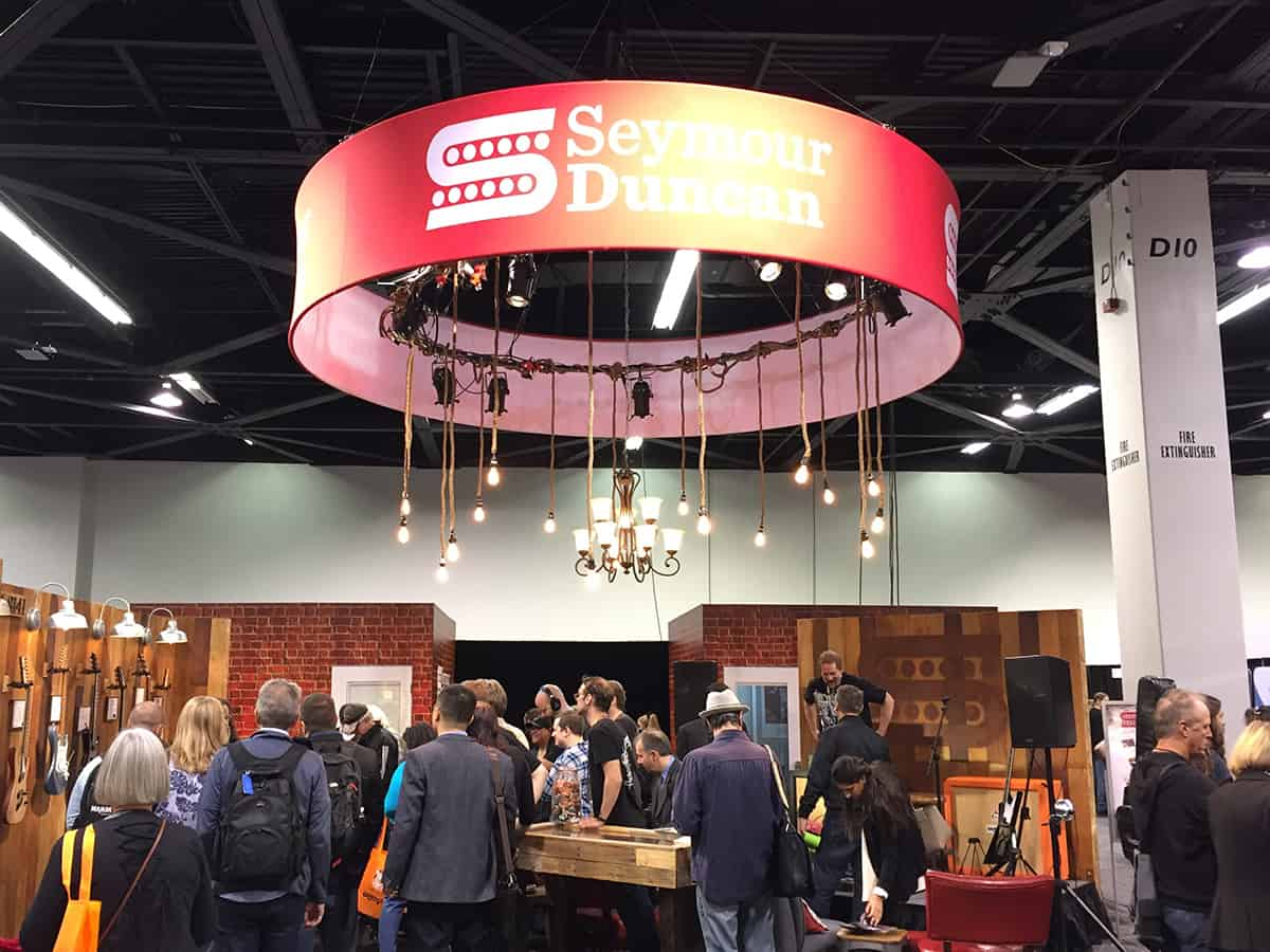 Seymour Duncan Booth at NAMM 2018