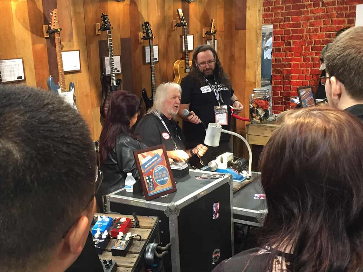 Seymour Duncan giving a demo at NAMM 2018