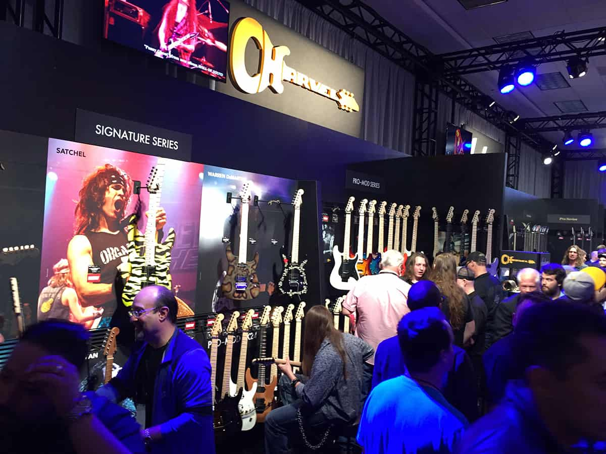 Charvel Guitars Room at NAMM 2018