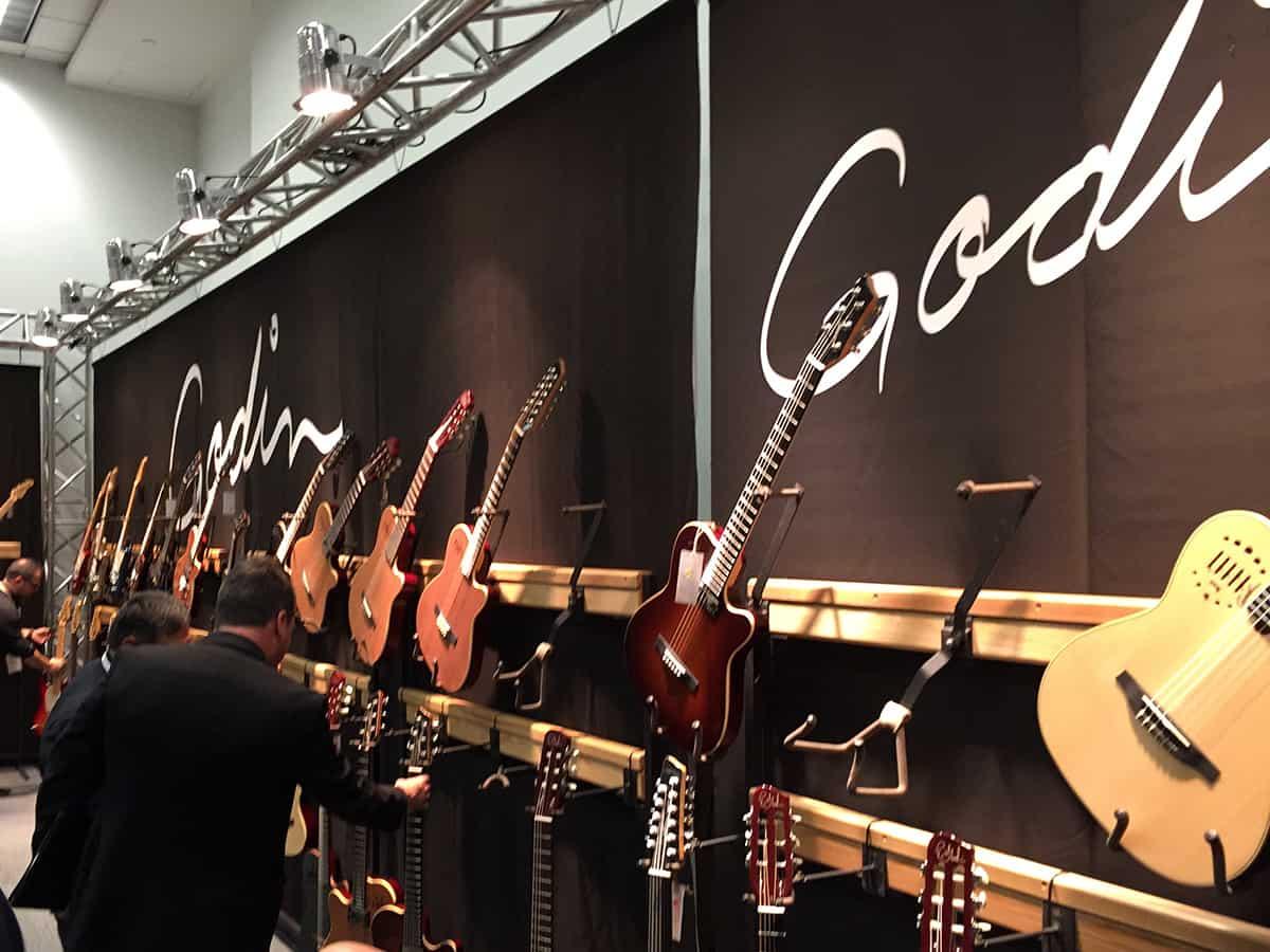 Godin Guitars room at NAMM 2018