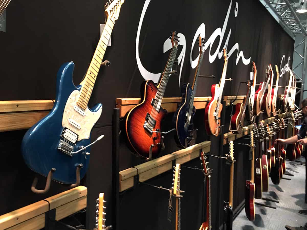 Godin Guitars room at NAMM 2018