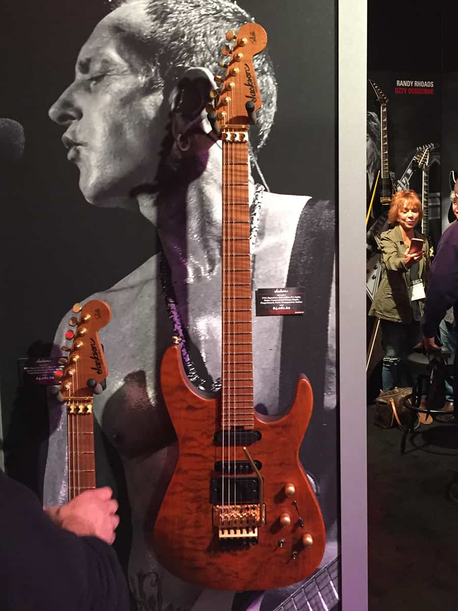 One of the amazing Phil Collen model Jackson guitars at NAMM 2018