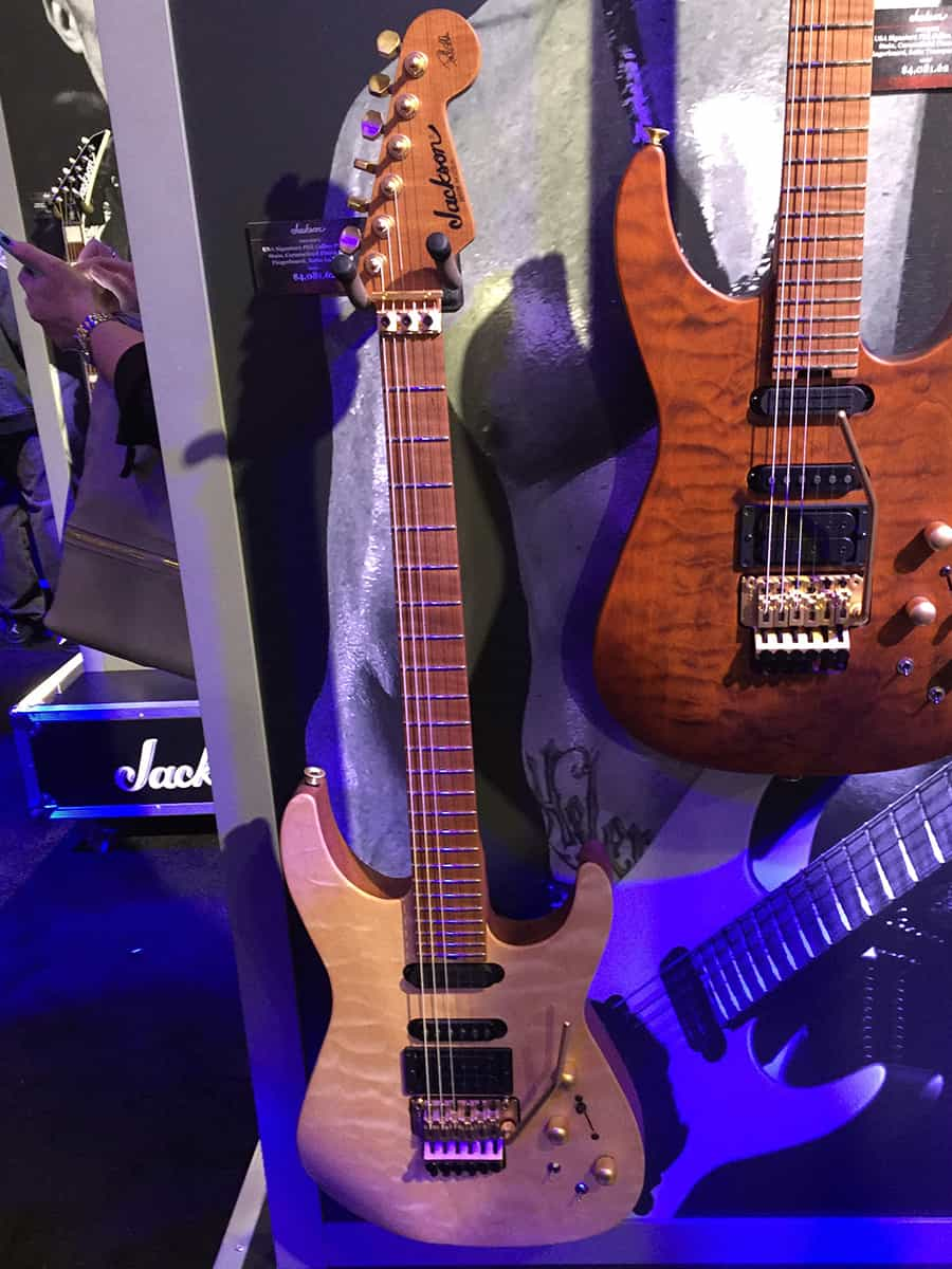 Another amazing Phil Collen model Jackson guitars at NAMM 2018