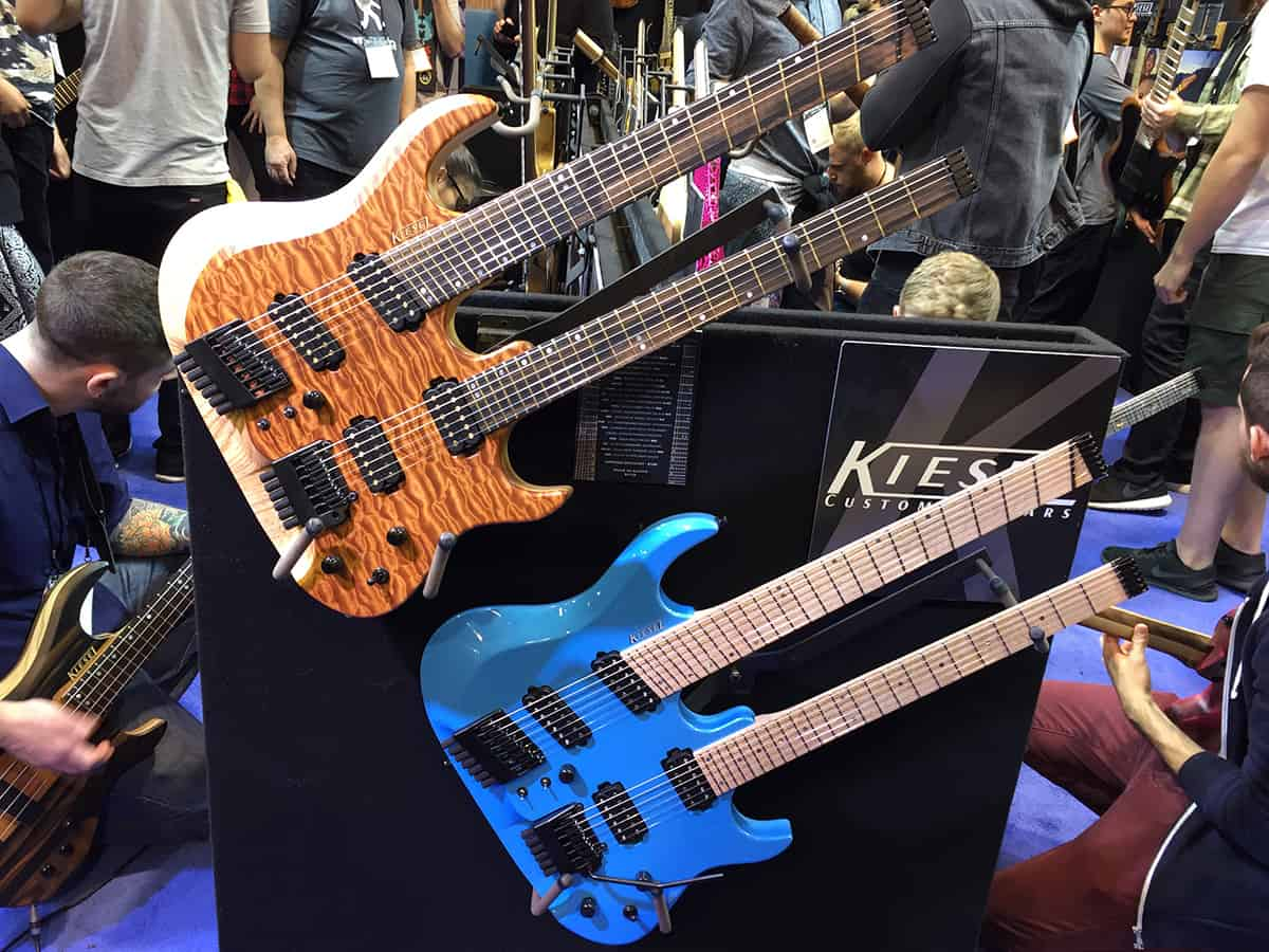 Two impressive double-neck Kiesel guitars at NAMM 2018
