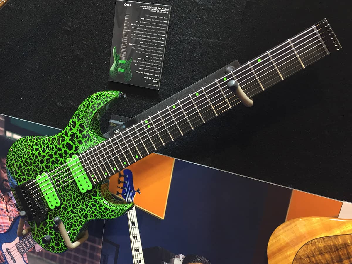 Kiesel Osiris 8-String in Racing Green Crackle Finish at NAMM 2018
