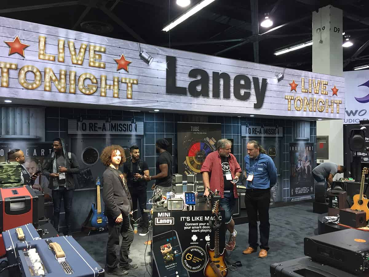 Laney Amps booth at NAMM 2018