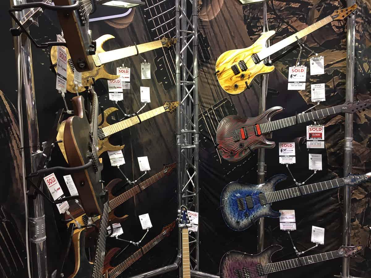 Mayones Guitars booth at NAMM 2018