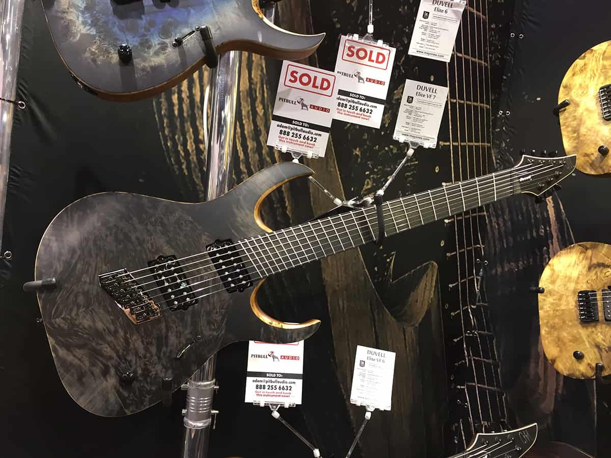 Gorgeous Mayones Guitar at NAMM 2018