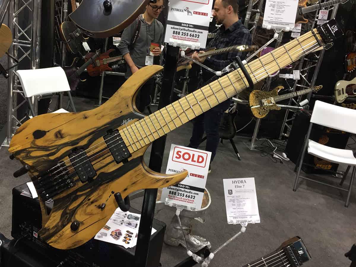 Gorgeous Mayones Guitar at NAMM 2018