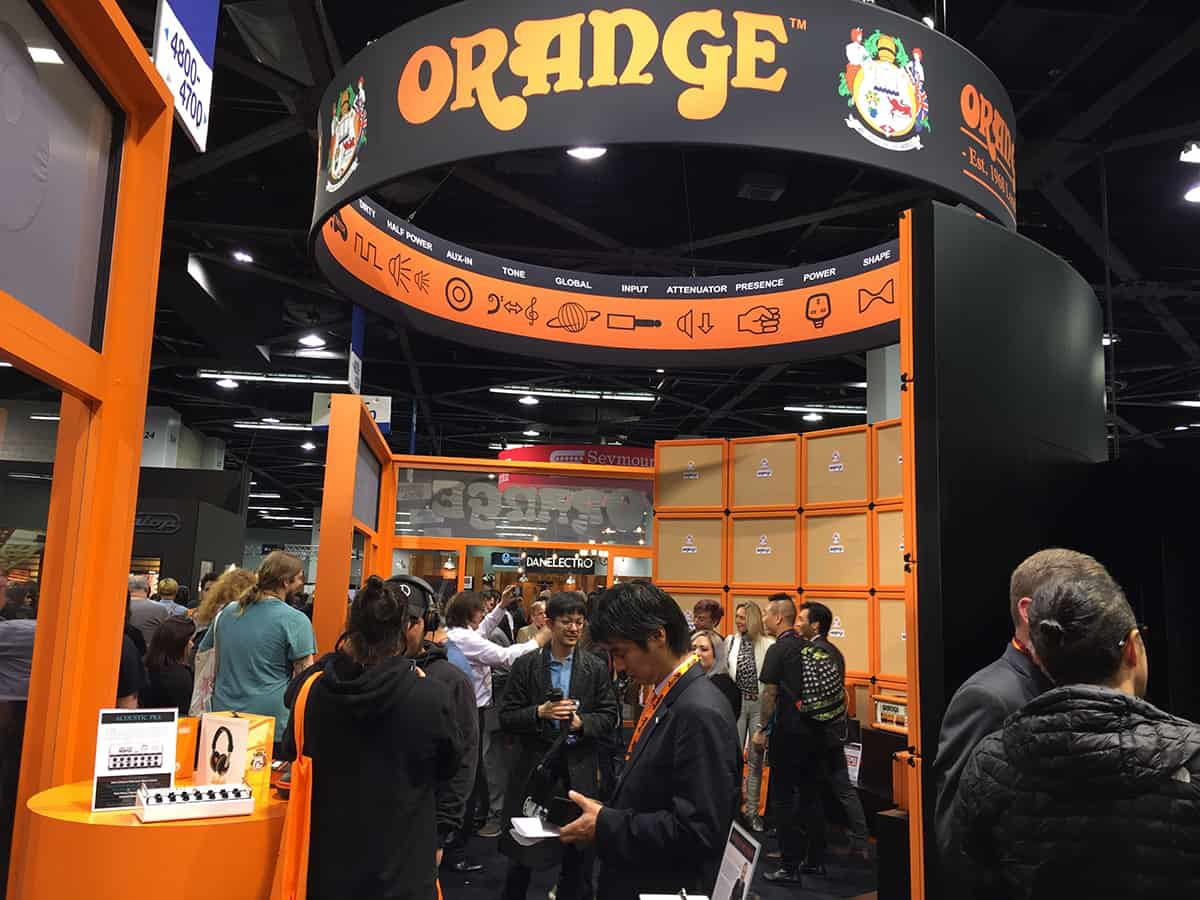Orange Amps booth at NAMM 2018