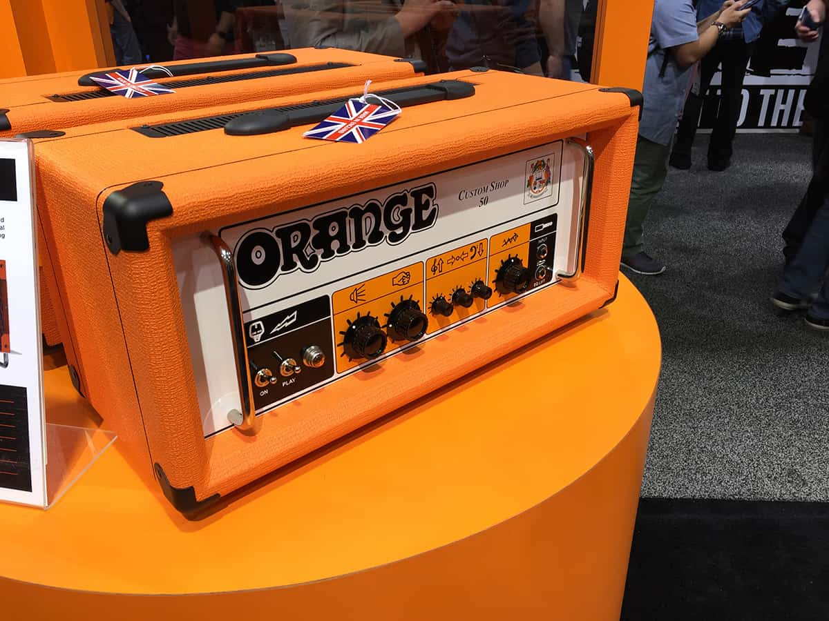 Orange Amp head at NAMM 2018