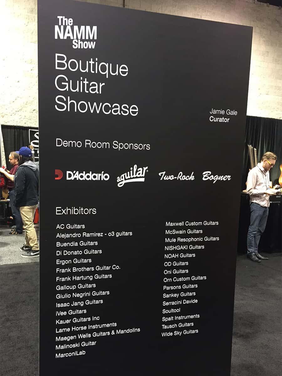 Botique Guitar Showcase at NAMM 2018