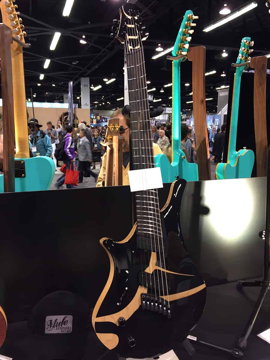Botique guitar on display at NAMM 2018