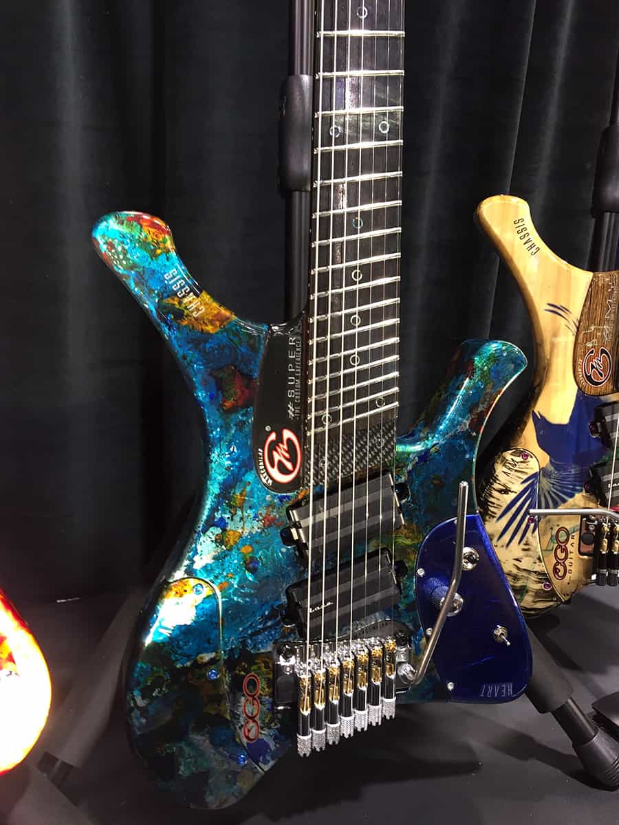 Botique guitar on display at NAMM 2018
