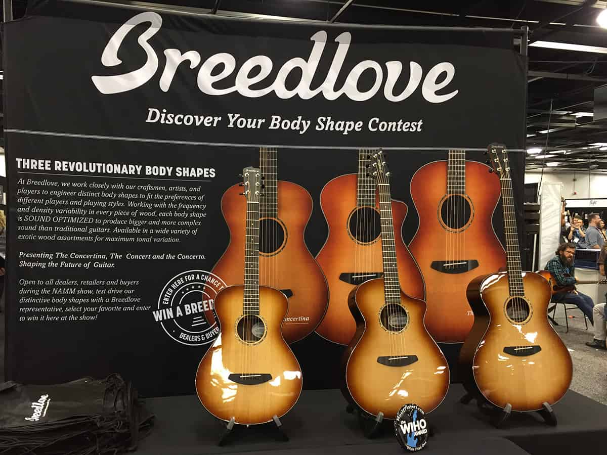 Breedlove Guitars at NAMM 2018