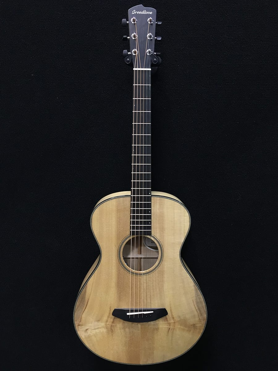 Breedlove acoustic guitar on display at NAMM 2018