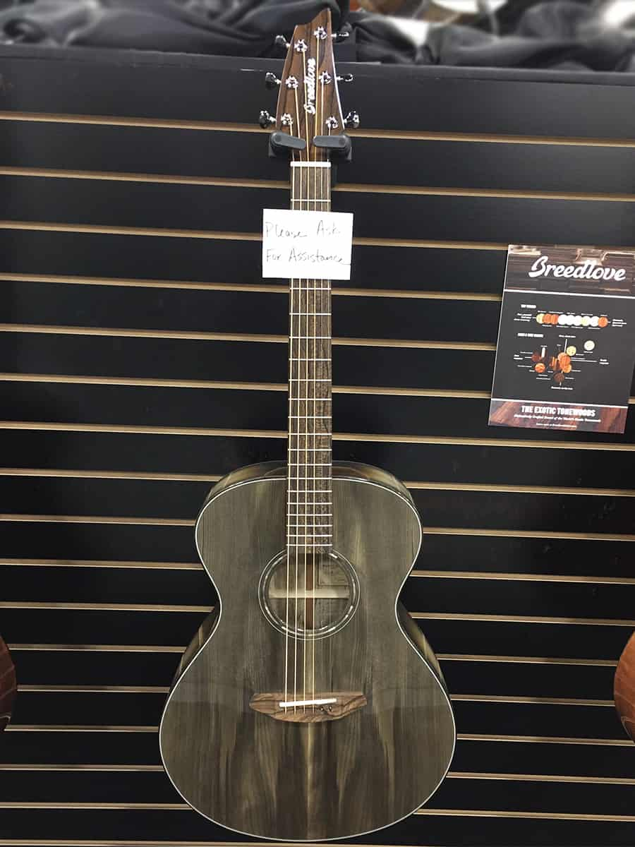Stunning Breedlove acoustic guitar on display at NAMM 2018