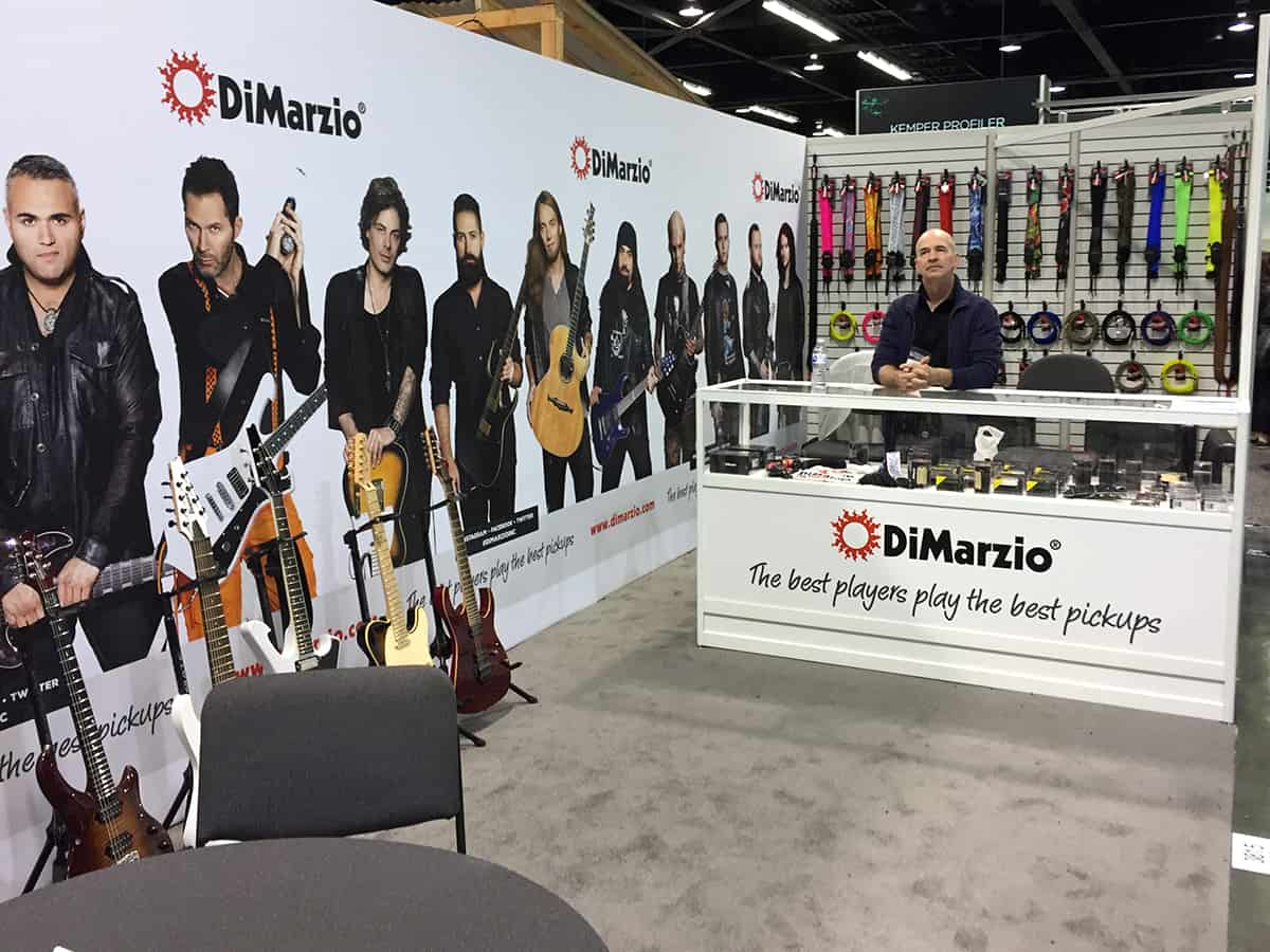 The DiMarzio Pickups Booth at NAMM 2018