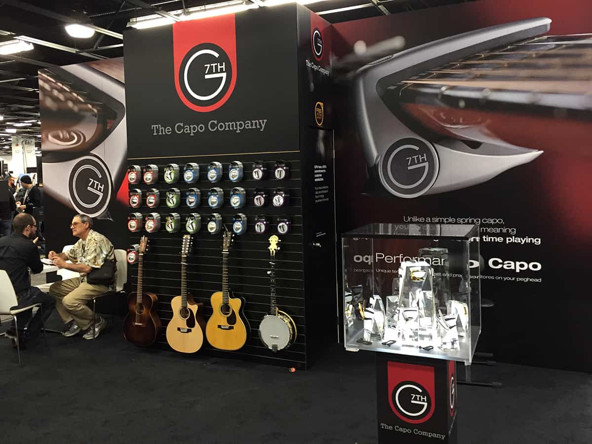 G7th Capos Booth at NAMM 2018