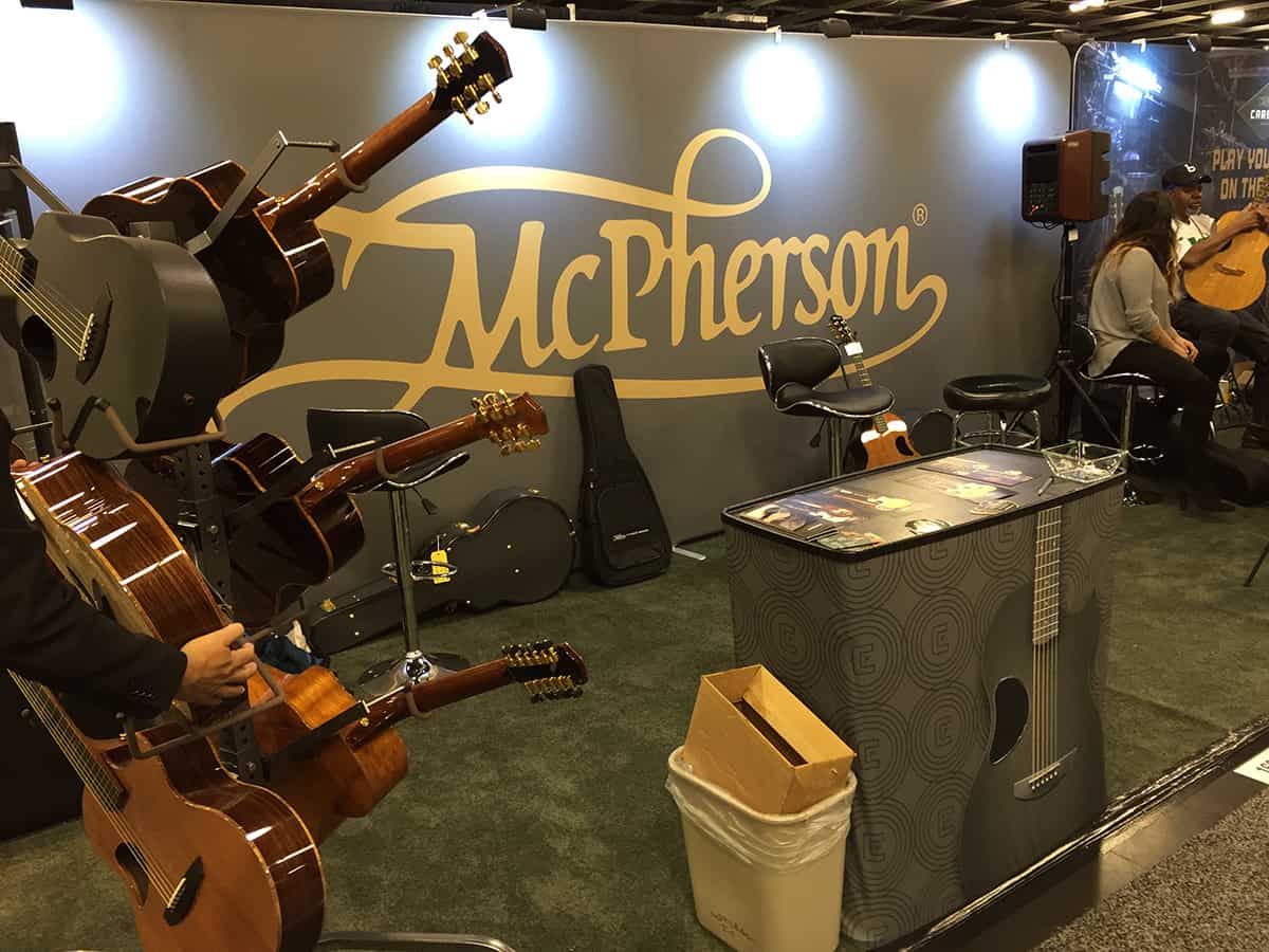McPherson Guitars at NAMM 2018