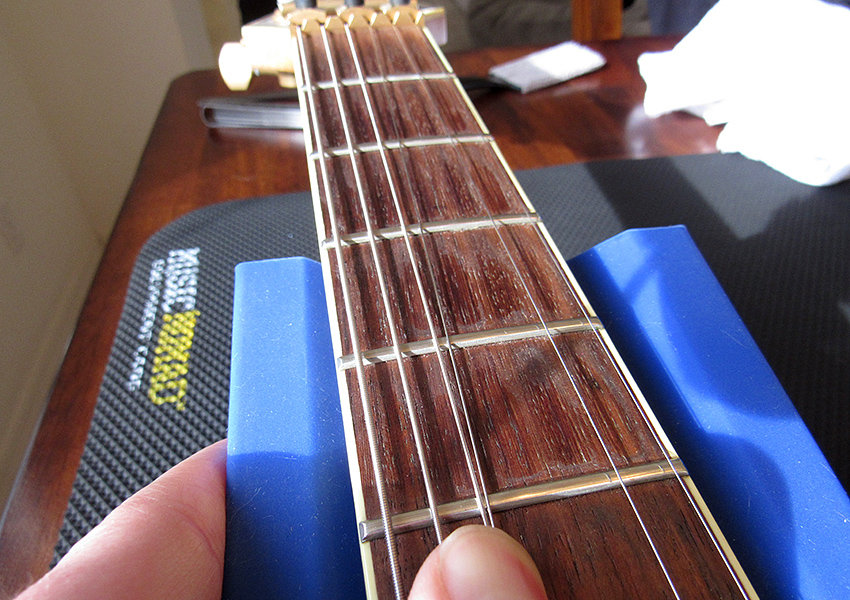 This filthy fretboard is perfect for a cleaning demo