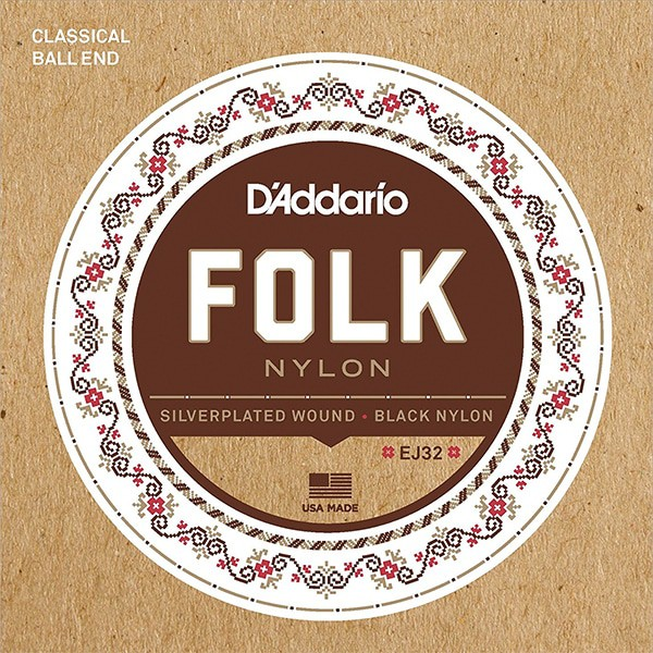 D'Addario Folk Ball-End Nylon Guitar Strings