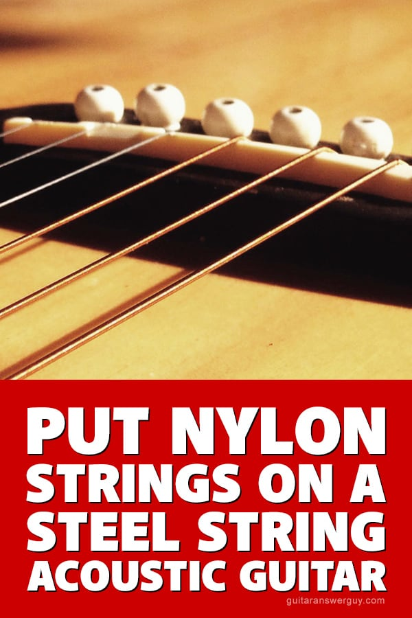 A reader recently wrote in and asked me if he could somehow install Classical (nylon) guitar strings on his steel-string acoustic guitar. Read my in-depth answer here.