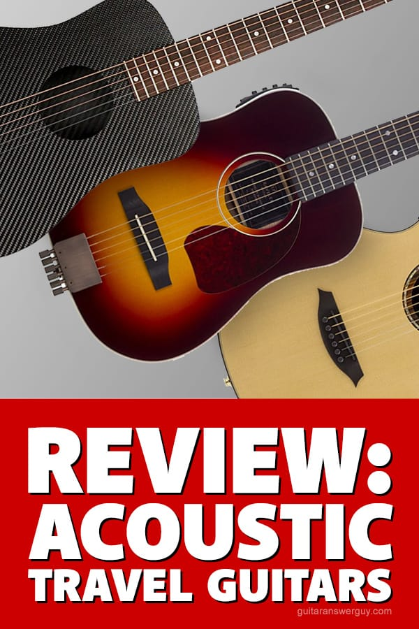 Ever considered buying an acoustic travel guitar, but wondered about (or doubted) how they sound? Wonder no more, because here I compare and review a few of the top travel guitars for you