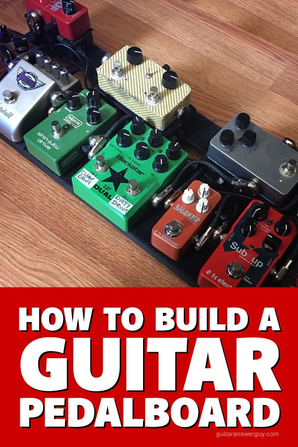 How to build a guitar pedalboard. Whether your totally new to guitar pedals or a seasoned pro, this is a practical guide written by a professional, gigging guitarist