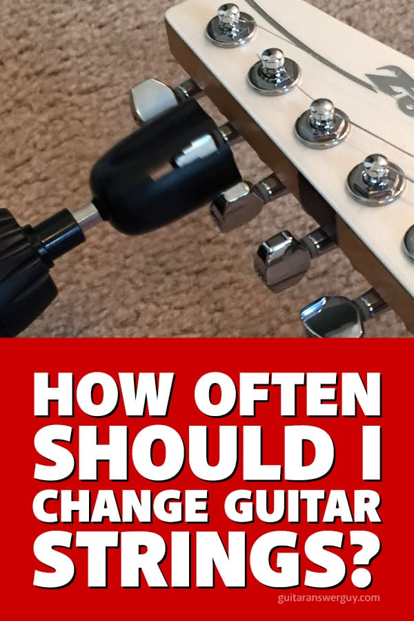 How often should I change guitar strings?