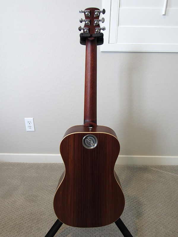 Journey OF420 Acoustic-Electric Travel Guitar - Back