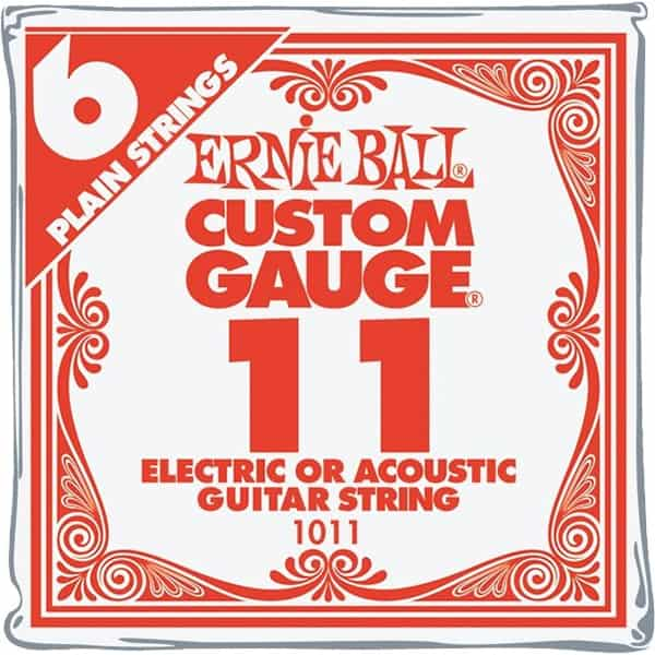 Ernie Ball .011 Single Guitar Strings for Acoustic or Electric